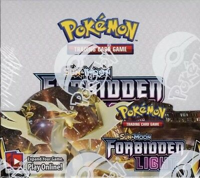 Pokemon Sun and Moon Forbidden Light sealed booster box 36 packs of 10 cards