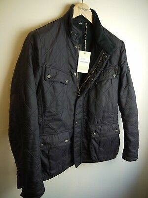 Barbour Men's Ariel Polar Quilted Jacket, New With Tags, Navy Blue, Small