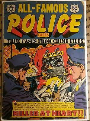 ALL-FAMOUS POLICE CASES (1952 Series) #7 Nice Comic Book L.B Cole cover