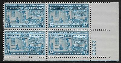 US Scott #E17, Plate Block #23720 1944 Special Delivery 13c FVF MNH Lower Right