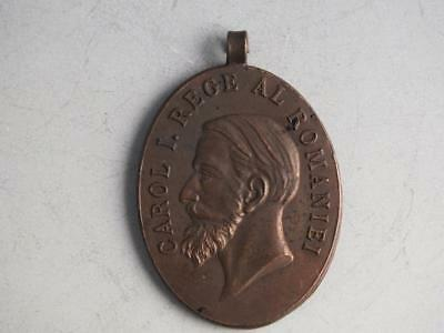 Carol I Of Romania Bronze Medal Or Pendant