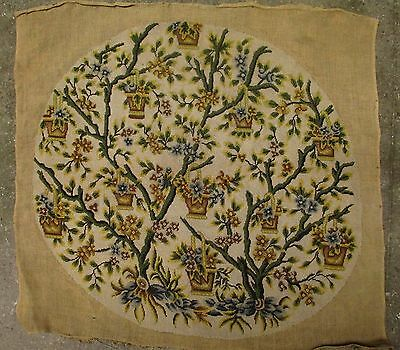A Large Antique Needlepoint Tapestry Project for Armchair #2