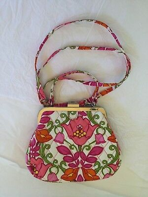 Nwot Vera Bradley Retired Lilli Bell Mini Frame Cross Body Purse Shoulder  Bag 6df509ab79f54