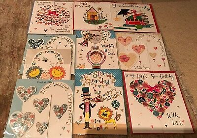 Joblot Wholesale Rachel Ellen Greetings Birthday Cards X 10 High RRP