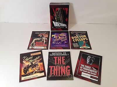 MOVIE POSTERS 2007 SCI-FI & HORROR Breygent Card Set w/ CASE TOPPER CARD #CT1
