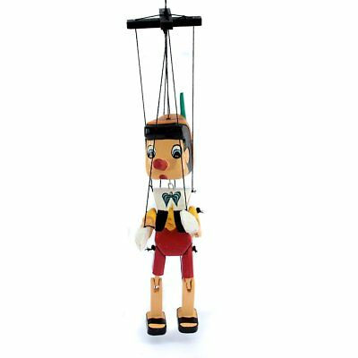 hand made wooden pinocchio puppet hinged doll ornament birthday christmas gift