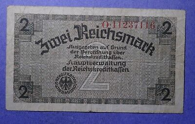 Germany Two Reichsmark note VG/F