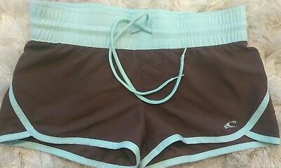 Women's Shorts, Size 5 O'NEILL Brown & Blue Board Shorts Drawstring/Elastic EUC