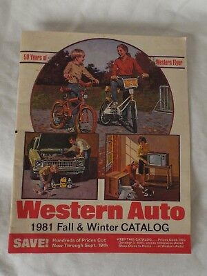 Western Auto 1981 Fall & Winter Catalog 50 Years of Western Flyer Salem, KY