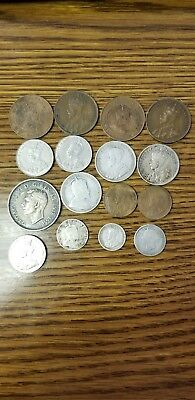 Canadian coin lot 16 various coins. Plenty of of variety.