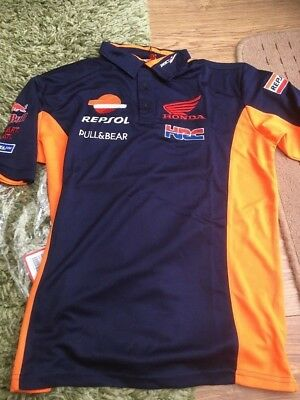 Repsol Honda Team 2018 Polo Shirt  Moto GP NEW Size XL like L read description