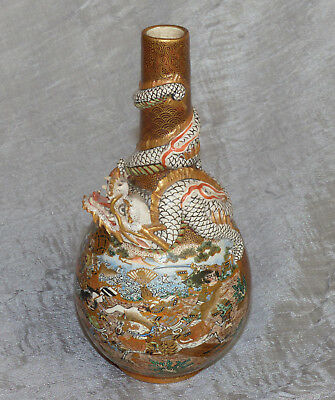 Fine Japanese Satsuma Figural Vase from famous Hollywood Actor's Estate Signed