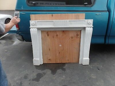 marble fireplace mantel USED WHITE
