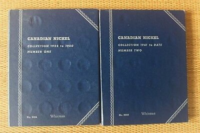 Canada NICKELS five cents 2 Whitman ALBUMS 1922 - 2011 collection lot 94 coins