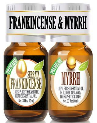Frankincense and Myrrh Essential Oil Combo Pack 100% Pure - 10ml