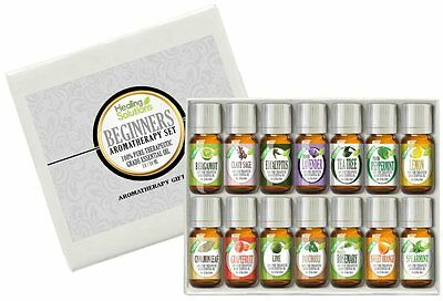 Beginners Aromatherapy Essential Oil Set (100% Pure & Natural) -14/10ml
