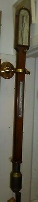 Good And Rare 19th Century Walnut Marine Stick Barometer In Full Working Order