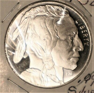 One Ounce Silver Round ( American Indian)