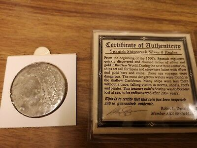 FF Mexico 8 reales silver coin  from a Shipwreck : about 20g