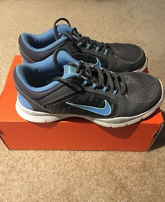 02a9e6b90c9e Nike Womens Flex Trainer 4 Running Training Shoes Gray Blue 643083-005 Size  6.5