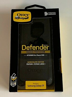 Otterbox Defender Series Case Cover w/ Clip Holster for Samsung Galaxy S9 Black
