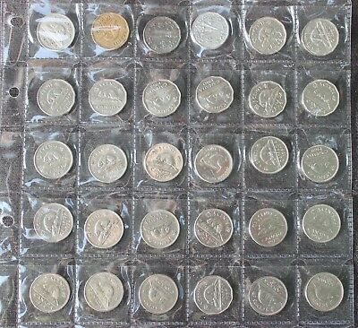 Canada NICKELS five cents 1940 -1994 circulated nice lot of 30 coins