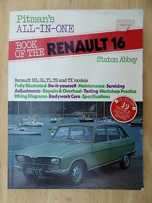 Renault 16 Pitman All-In-One Book DIY Repairs Servicing Wiring Maintenance