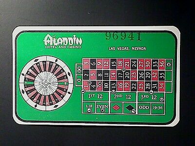 2019/9 - ALADDIN HOTEL CASINO LAS VEGAS NV GAMING GUIDE CARD Roulette PAY-OFF
