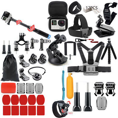 56-in-1 Go-Pro Accessories Hero6 5 4 3 Bundle Camera Outdoor Sports Set Kit D5P6