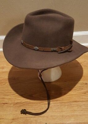 52319eacffe Mens  Outback Trading Western Hat Wide Open Spaces 1336 Wool - Chin Strap  ...