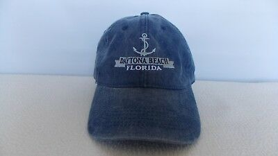 Daytona Men's Baseball Cap Beach Florida, Blue with Anchor