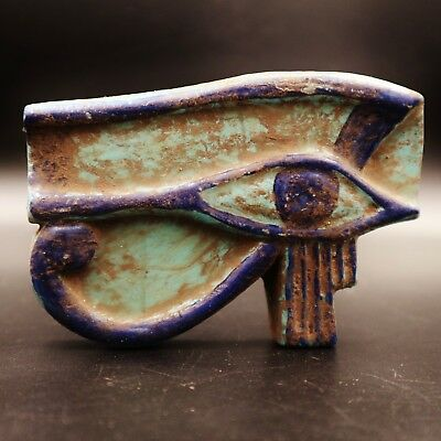Rare Large Ancient Egyptian Stone Eye of Horus Amulet Figurine....ONE OF A KIND