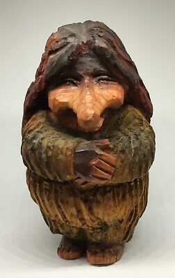 Henning Norway Hand Carved Wood Troll Circa 1950