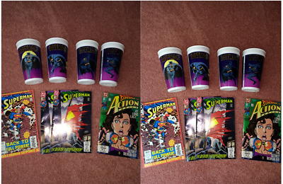 Comics Superman plus never used set of Batman collectible cups