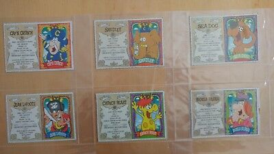 Cap'N Crunch Cereal Trading Cards Complete Set of 6 M/NM Condition