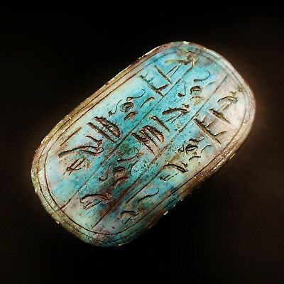Rare Ancient Egyptian Stone Scarab Beetle Amulet Figurine