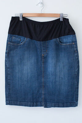 Bub2b Women's Maternity Denim Skirt Size 14 Excellent Condition