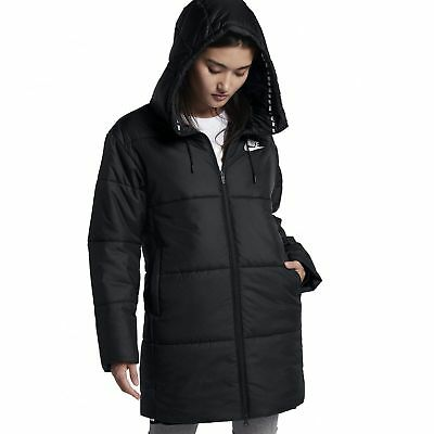 L Size Parka Nsw 889274 010 White Syn Nike Black Fill Womens O74YTnXWn