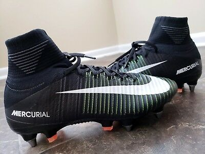 ce39409ce54b Nike Mercurial Superfly V 5 SG Pro Soccer Cleats Electric Green 831956-014 Sz  6
