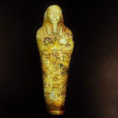 Fine Ancient Egyptian Faience Ushabti (Shabti) Statue Figure