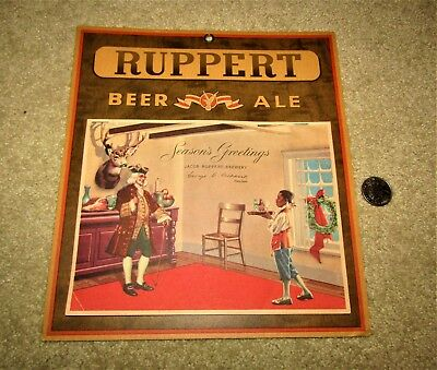 RUPPERT beer and ale 1942 wall CALENDAR COMPLETE!  NEW YORK