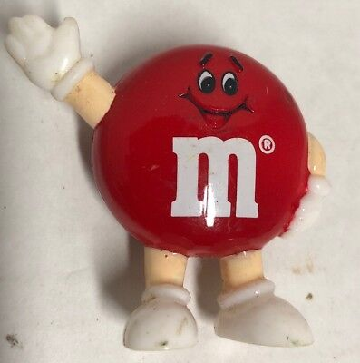 VINTAGE 1992 Red M&M Figure Mars RARE Hard To Find MINI FIGURE