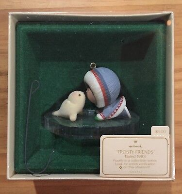 Hallmark 1983 Christmas Ornament QX400-7 Frosty Friends Eskimo Seal - MIB