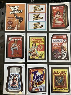 Lost Wacky Packages VARIATIONS BONUS Series Complete RED LUDLOW SET + Wrappers