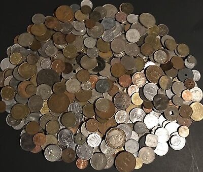 Nice Mixed Pile *4.1 Lbs.* Foreign World Coins Currency From 18 -1900s .99 Start