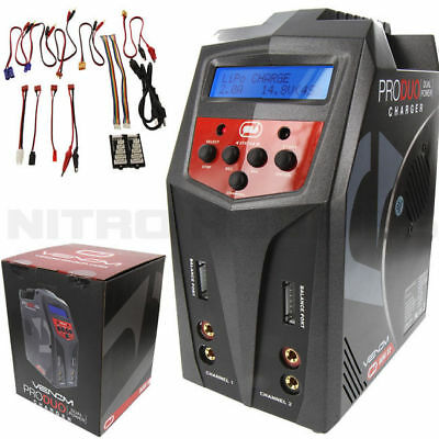 Venom 0685 Pro Duo Dual 80W AC/DC LiPO LiHV NiMH 7-Amp charger Losi Associated