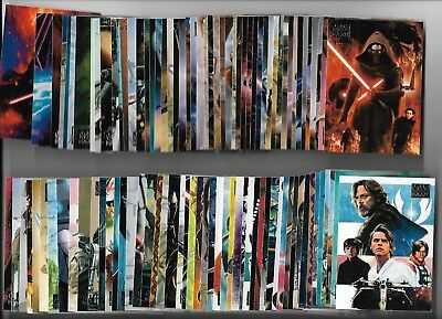 2018 Star Wars Galaxy Complete 100 Card Base + Trilogy, Ahsoka, Posters Sets (T)
