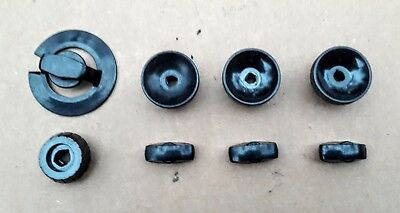 """Vintage Set of 1940s """"RCA"""" Tv Knobs for 621TS & 630TS and Others, Free USA Ship!"""