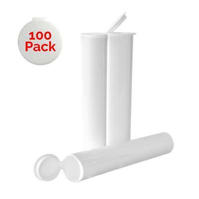 98MM White Doob Tubes | 100 Pack | Ideal for Storing Pre Rolled Raw Cones