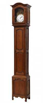 VERY TALL FRENCH PINE CASED GRANDFATHER CLOCK, 19TH C. ( 1800s )